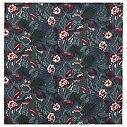 ФИЛОДЕНДРОН Ткань, темно-синий, с цветочным орнаментом, 150 см