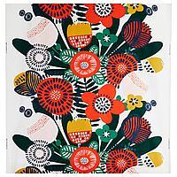 ИРМЕЛИН Ткань, белый, разноцветный, 150 см