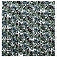 ТОРГЕРД Ткань, бел/зелен, 150 см