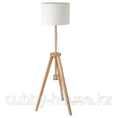 ЛАУТЕРС Светильник напольный, ясень, белый, фото 2