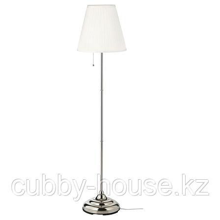 ОРСТИД Светильник напольный, никелированный, белый, фото 2