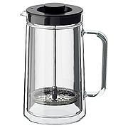 ЭГЕНТЛИГ Кофе-пресс/заварочный чайник, двуслойные стенки, прозрачное стекло, 0.9 л