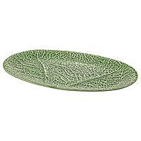 СМАКБИТ Блюдо, зеленый, 37x25 см