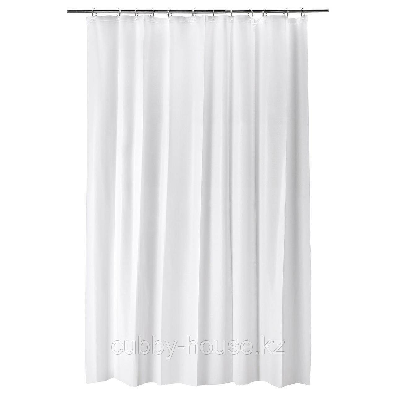 БЬЕРСЕН Штора для ванной, белый, 180x200 см