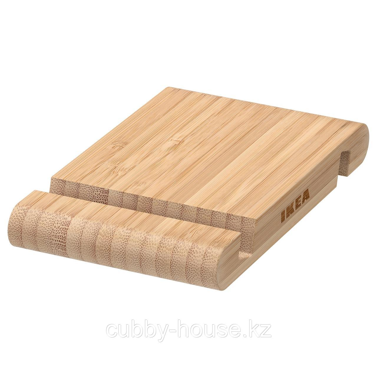 БЕРГЕНЕС Подставка для смартфона/планшета, бамбук