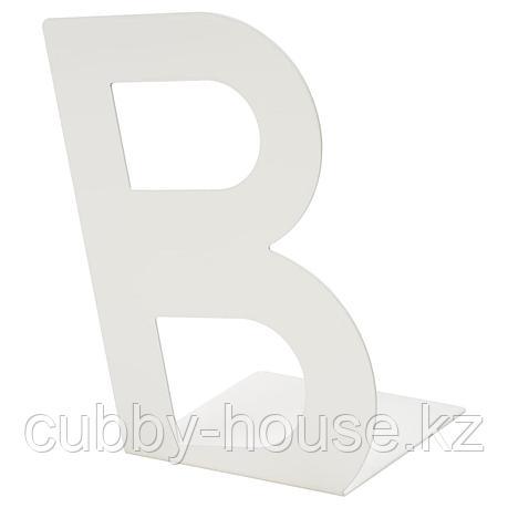 БУСБАССЕ Ограничитель для книг, белый, фото 2