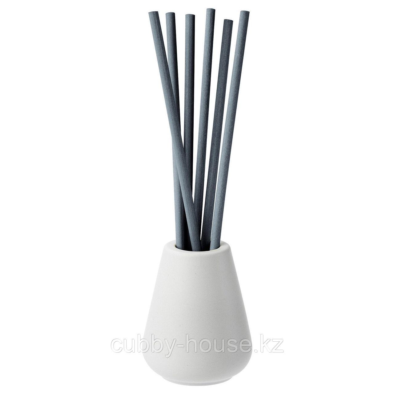 НЬЮТНИНГ Ваза и 6 ароматических палочек, Цветущий бергамот, серый