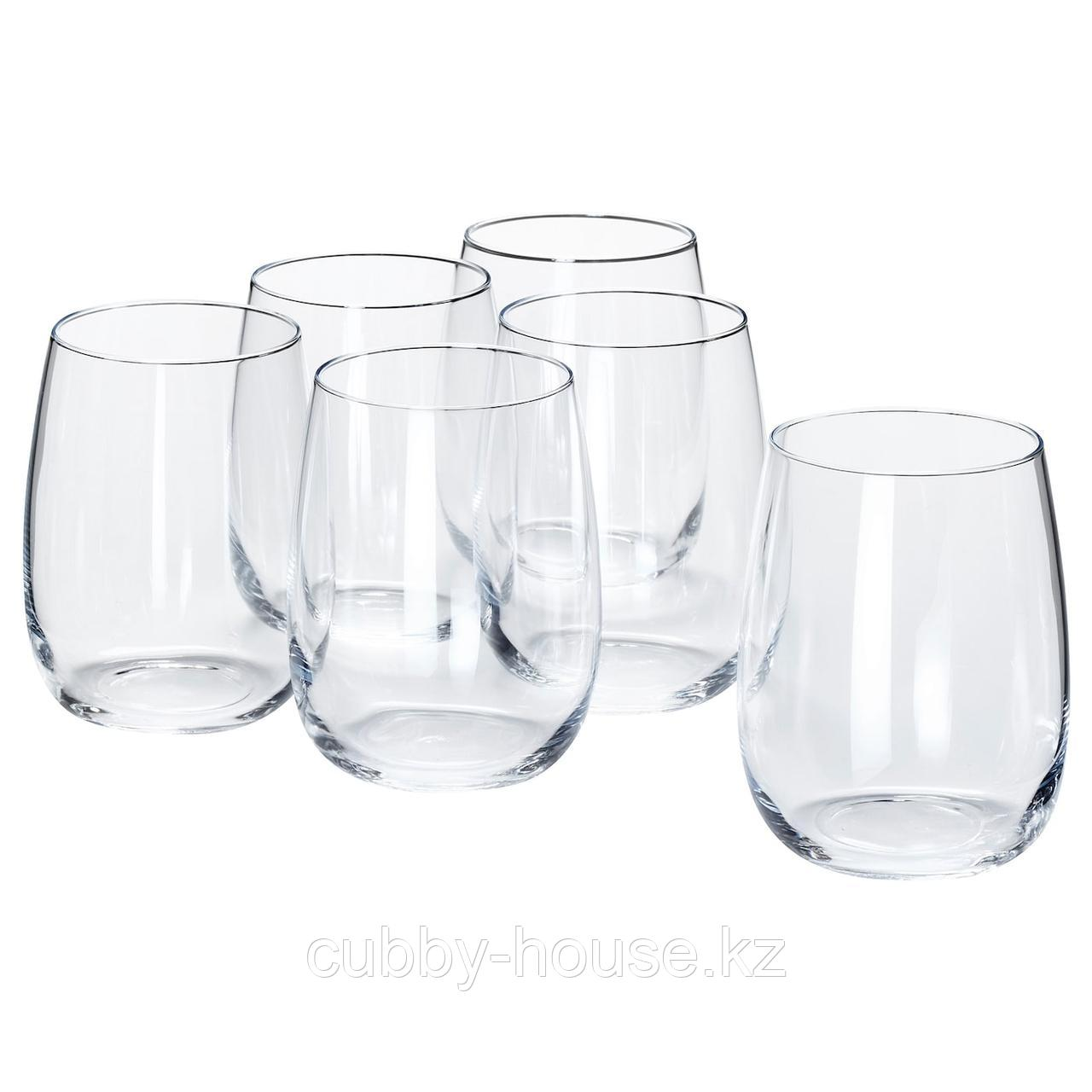 СТОРСИНТ Стакан, прозрачное стекло, 37 сл