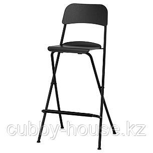 ФРАНКЛИН Стул барный, складной, черный, черный, 74 см, фото 2