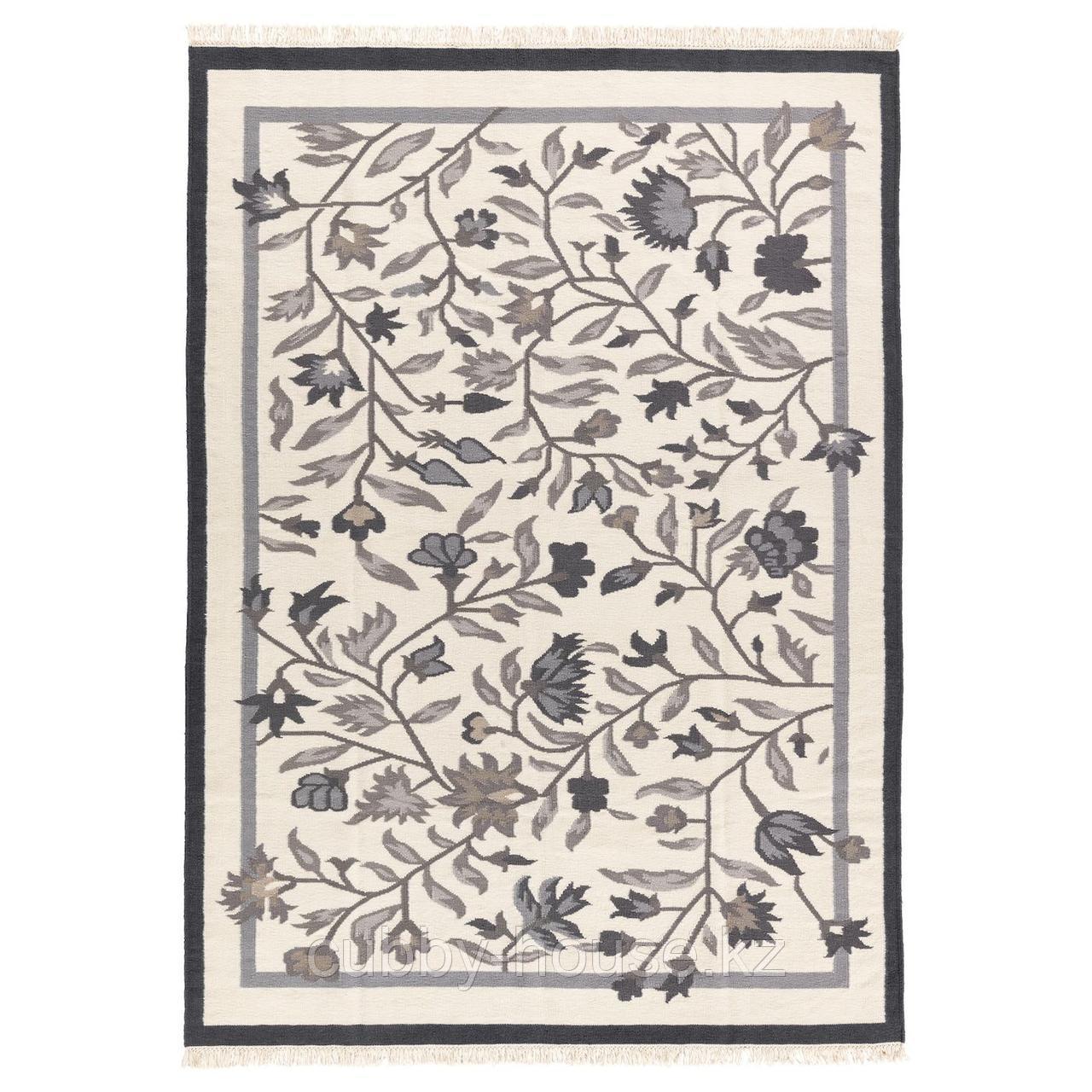 АЛЬВИНЕ Ковер безворсовый, ручная работа серый, 170x240 см