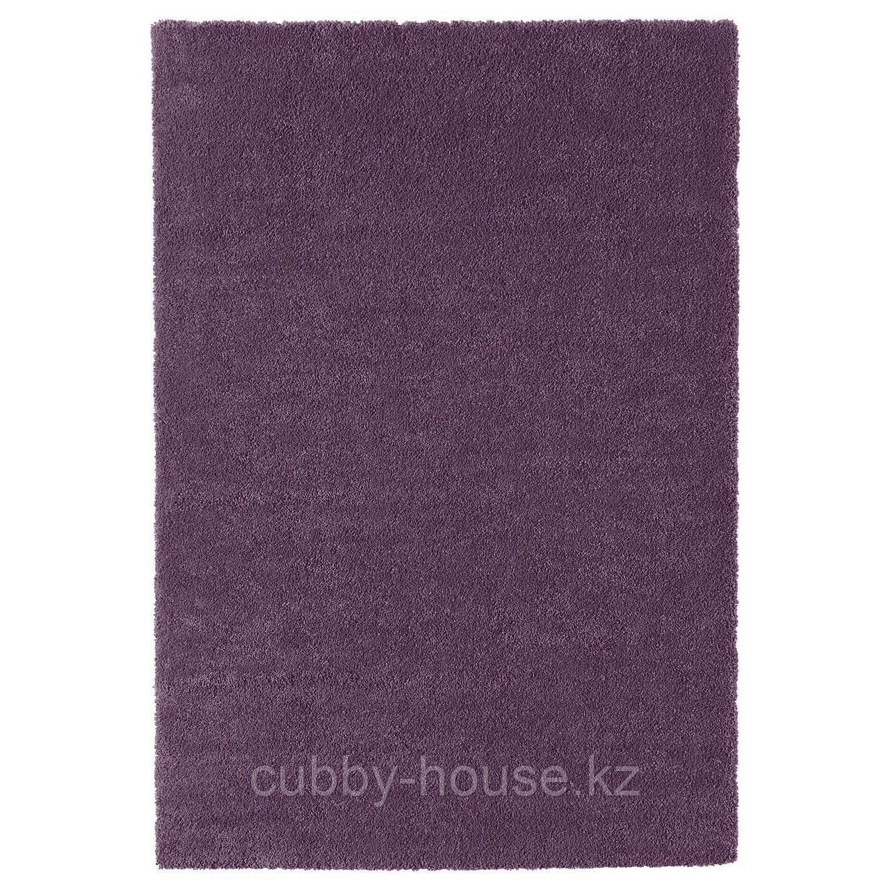 СТОЭНСЕ Ковер, короткий ворс, фиолетовый, 133x195 см