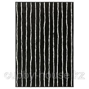 ГЁРЛЁСЕ Ковер, короткий ворс, черный/белый, 133x195 см, фото 2