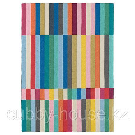 ХАЛЬВЕД Ковер безворсовый, ручная работа разноцветный, 170x240 см, фото 2
