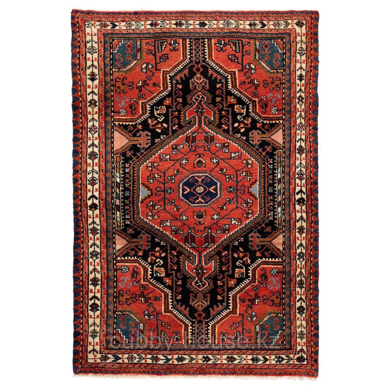 ПЕРСИСК ХАМАДАН Ковер, короткий ворс, ручная работа различные орнаменты, 100x150 см