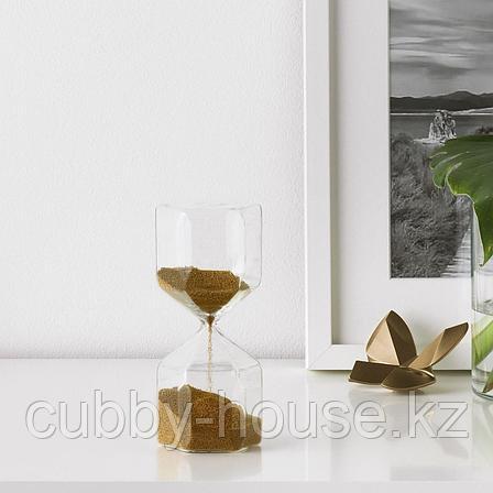 ТИЛЛСЮН Декоративные песочные часы, прозрачное стекло, 16 см, фото 2