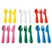 КАЛАС Столовые приборы, 18 предм., разноцветный