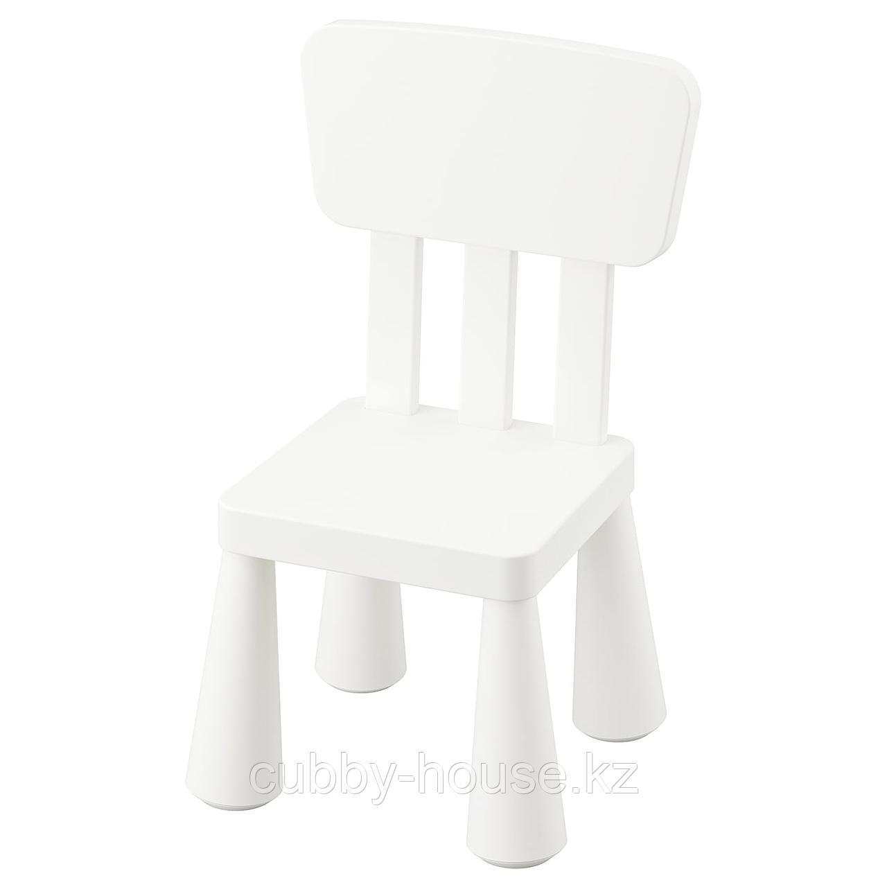 МАММУТ Детский стул, д/дома/улицы, белый