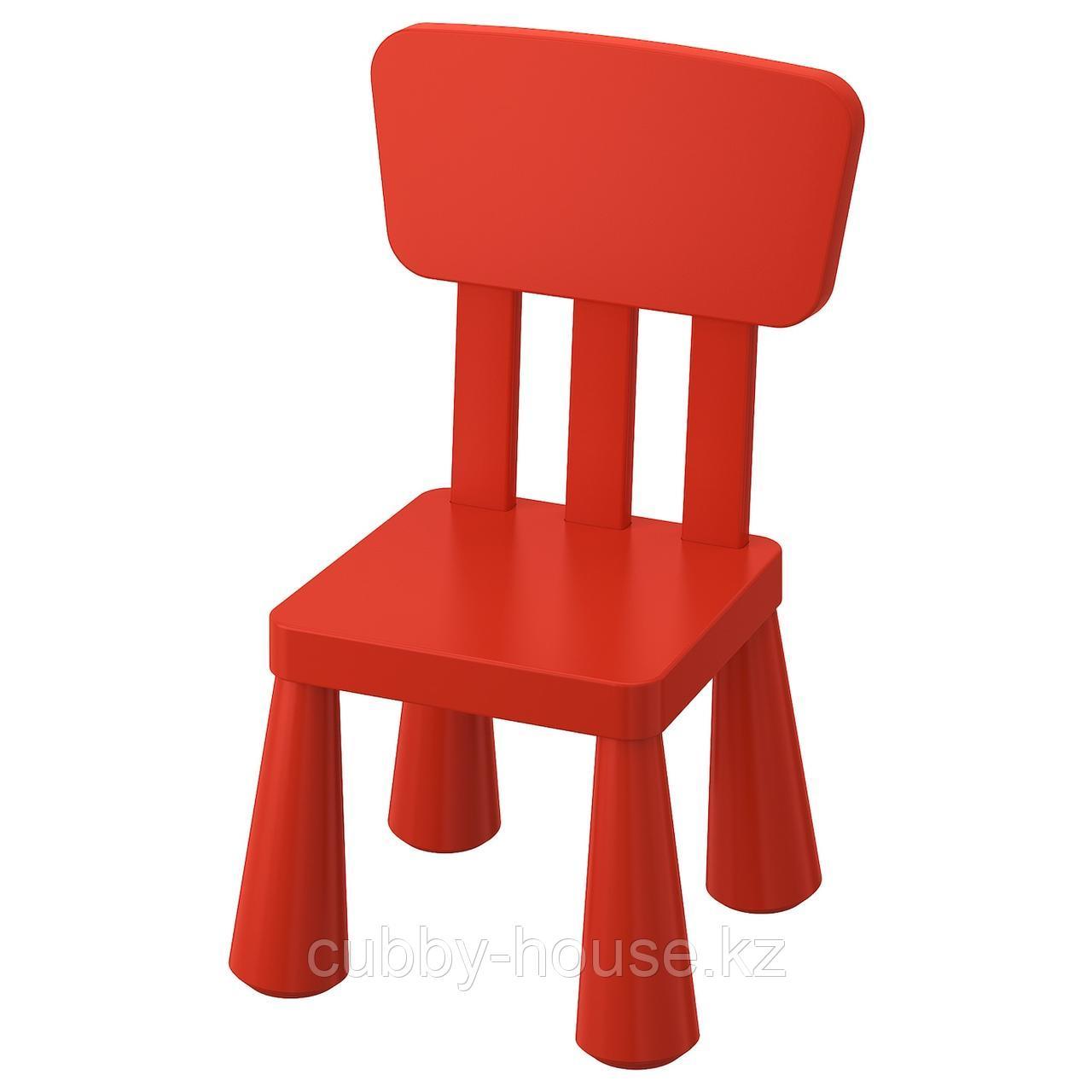 МАММУТ Детский стул, д/дома/улицы, красный