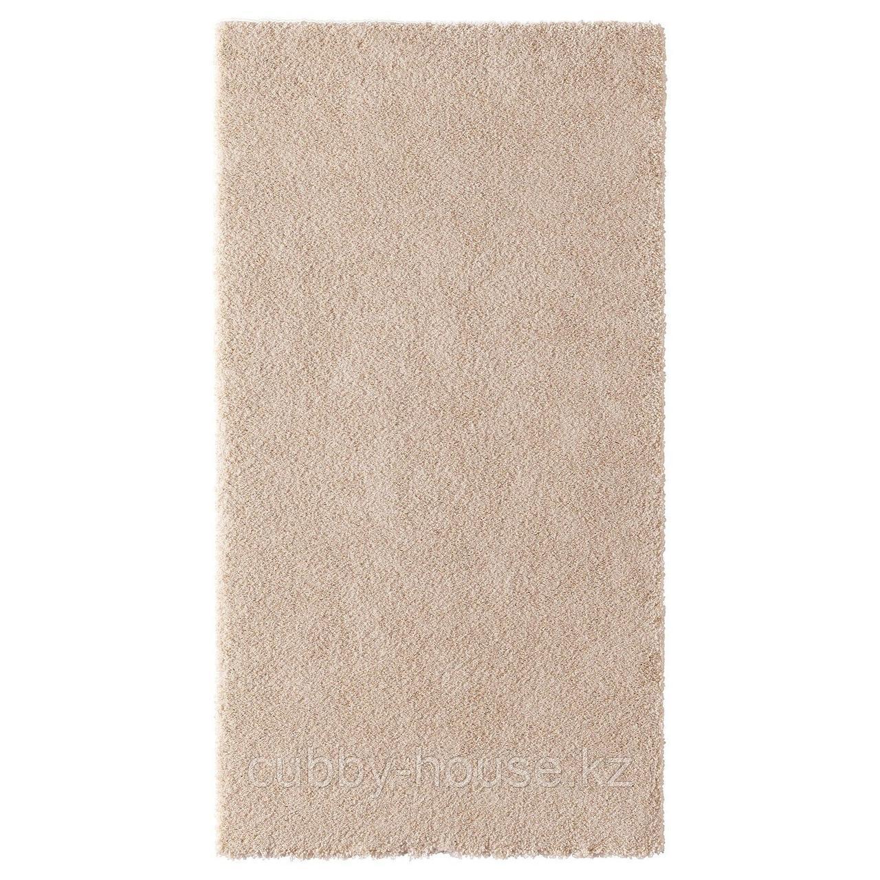 СТОЭНСЕ Ковер, короткий ворс, белый с оттенком, 80x150 см