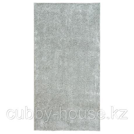ВОНГЕ Ковер, длинный ворс, светло-серый, 78x150 см, фото 2