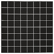 СВАЛЛЕРУП Ковер безворсовый, д/дома/улицы, черный, белый, 200x200 см