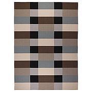 СТОКГОЛЬМ Ковер безворсовый, ручная работа, в клетку коричневый, 250x350 см
