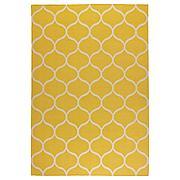 СТОКГОЛЬМ Ковер безворсовый, ручная работа, сетчатый орнамент желтый, 170x240 см