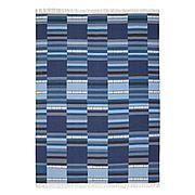 ТРАНГЕТ Ковер безворсовый, ручная работа различн оттенки синего, 170x240 см