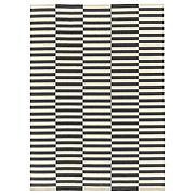 СТОКГОЛЬМ 2017 Ковер безворсовый, ручная работа в полоску, в полоску белый серый, 250x350 см