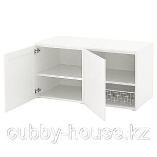 ОПХУС Скамья с ящиком, белый, Саннидаль белый, 120x57x63 см, фото 2