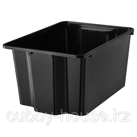 ГЛЕС Контейнер, черный, 28x38x20 см, фото 2