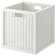БРАНЭС Корзина, белый, 32x34x32 см