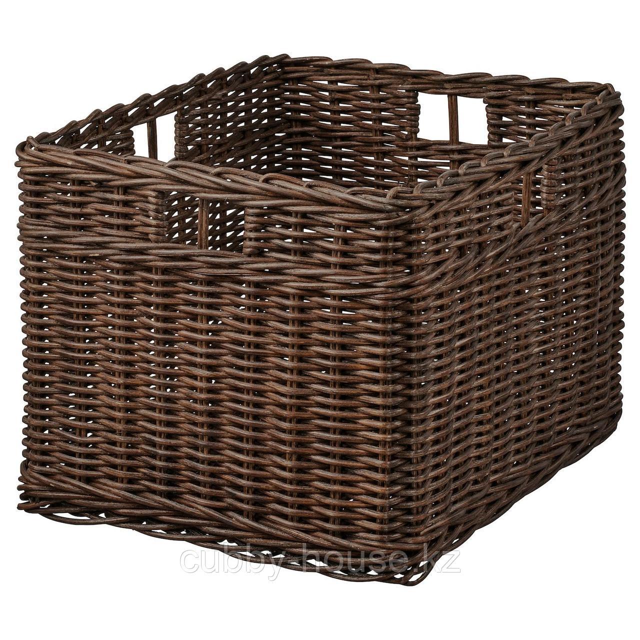 ГАББИГ Корзина, темно-коричневый, 29x38x25 см