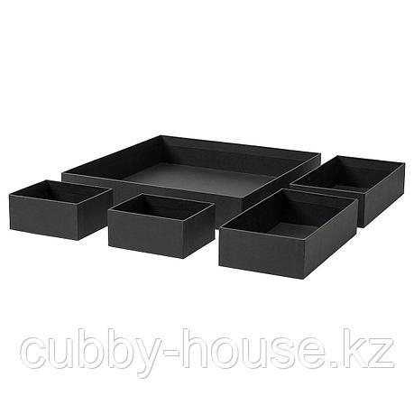 ГРОСИДАН Набор коробок, 5 шт., черный, фото 2