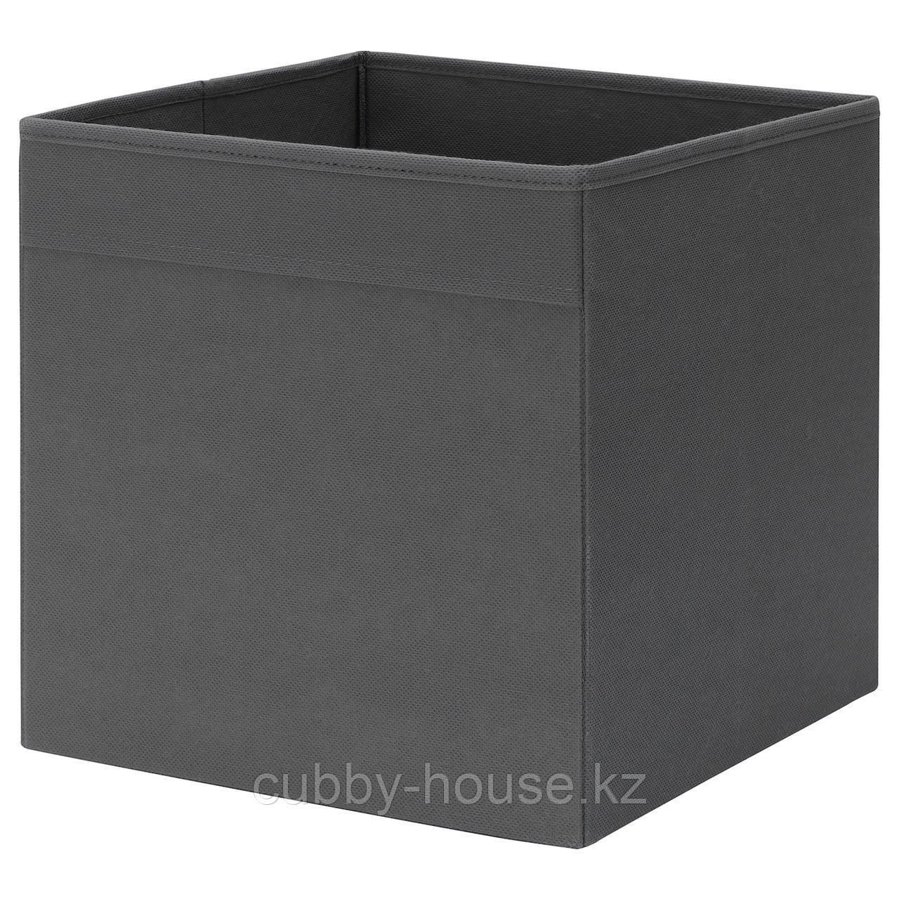 ФЮССЕ Коробка, темно-серый, 30x30x30 см