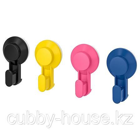 ТИСКЕН Крючок с присоской, разные цвета, фото 2