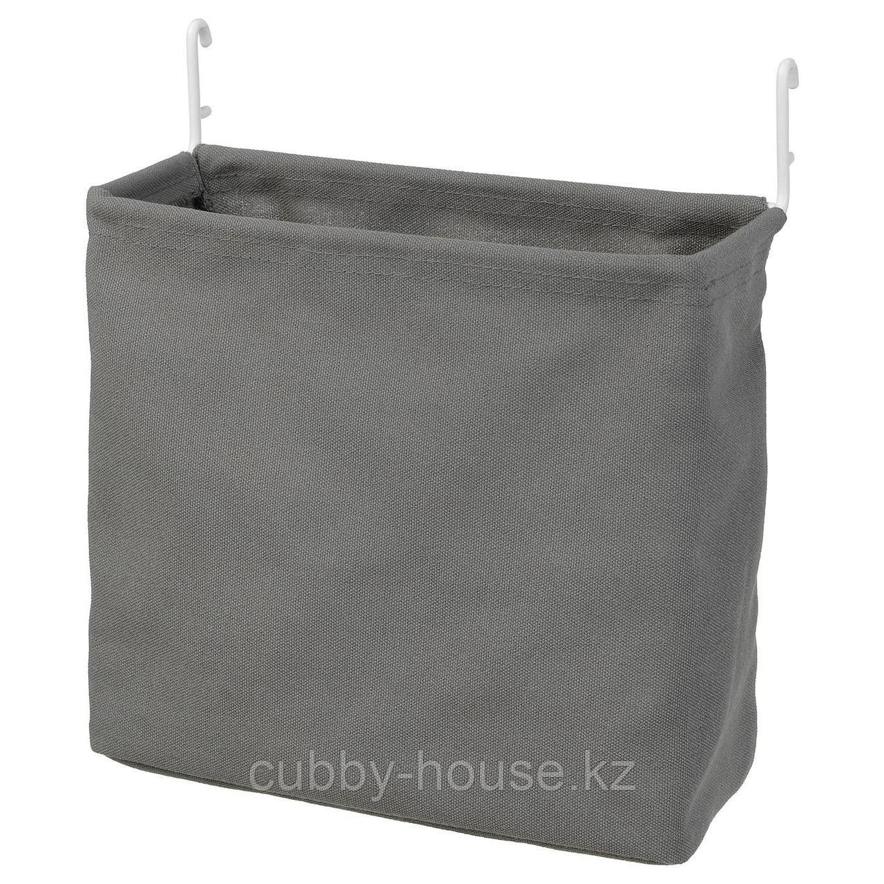 СКОДИС Текстильный контейнер, белый, серый