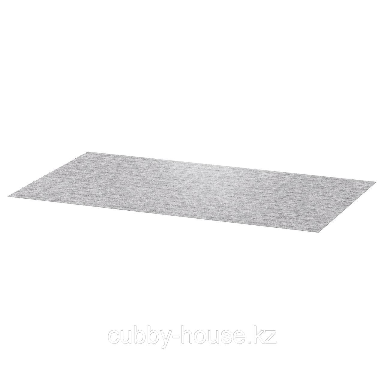 ПАССАРП Коврик в ящик, серый, 50x96 см