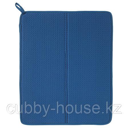 НЮХОЛИД Коврик для сушки посуды, синий, 44x36 см, фото 2