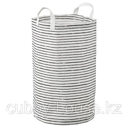 КЛУНКА Мешок для белья, белый, черный, 60 л, фото 2