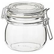 КОРКЕН Банка с крышкой, прозрачное стекло, 0.5 л