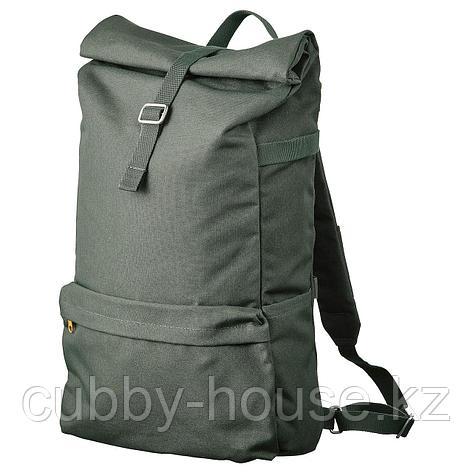 ДРЁМСЭКК Рюкзак, оливково-зеленый, 21 л, фото 2