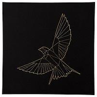ПЬЕТТЕРИД Картина, Золотая птица, 56x56 см