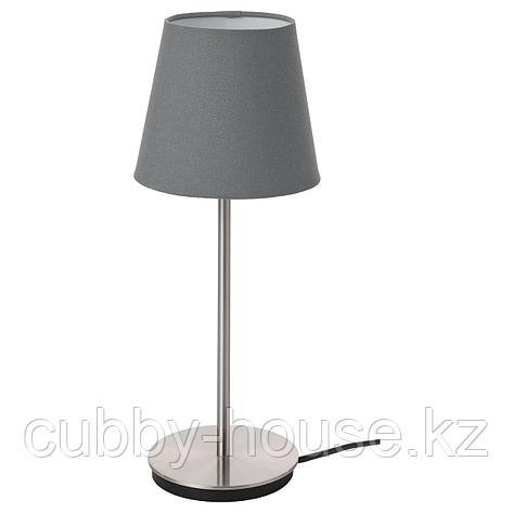 СКОТТОРП / СКАФТЕТ Лампа настольная, серый, никелированный, фото 2