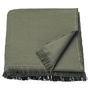 ОДДРУН Плед, темно-зеленый, 130x170 см