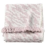 КАПАСТЕР Плед, белый, розовый, 130x170 см