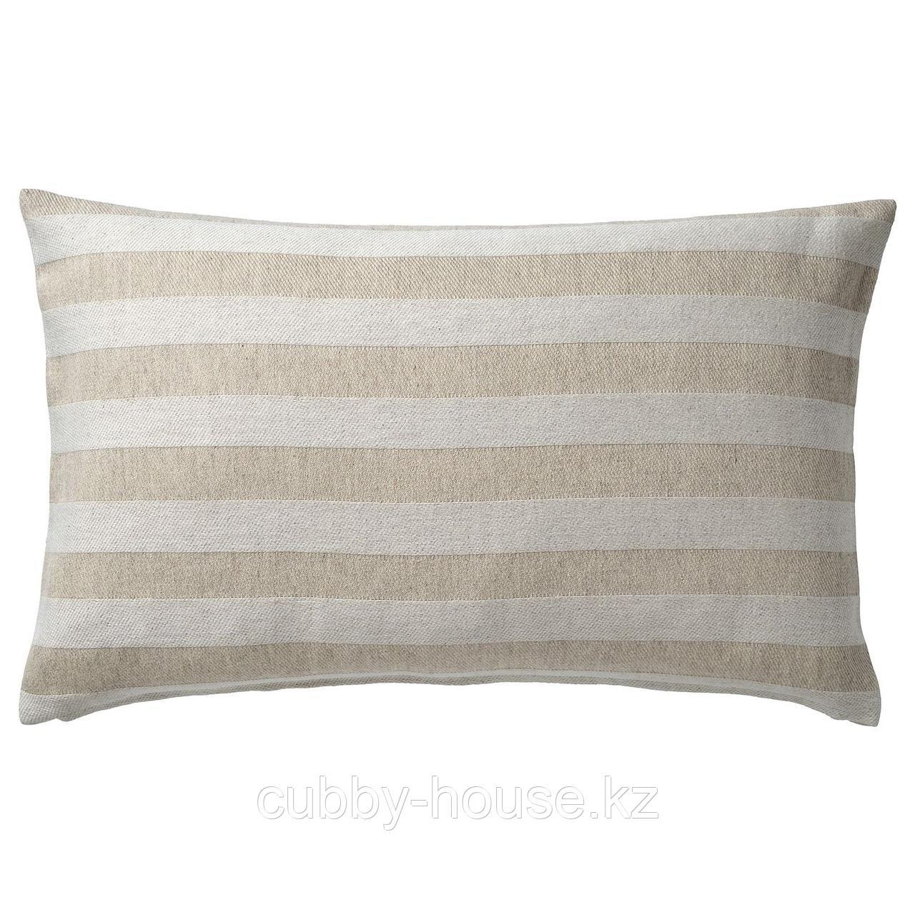 ХЕДДАМАРИА Чехол на подушку, неокрашенный, в полоску, 40x65 см