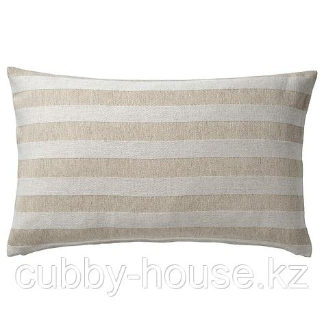 ХЕДДАМАРИА Чехол на подушку, неокрашенный, в полоску, 40x65 см, фото 2