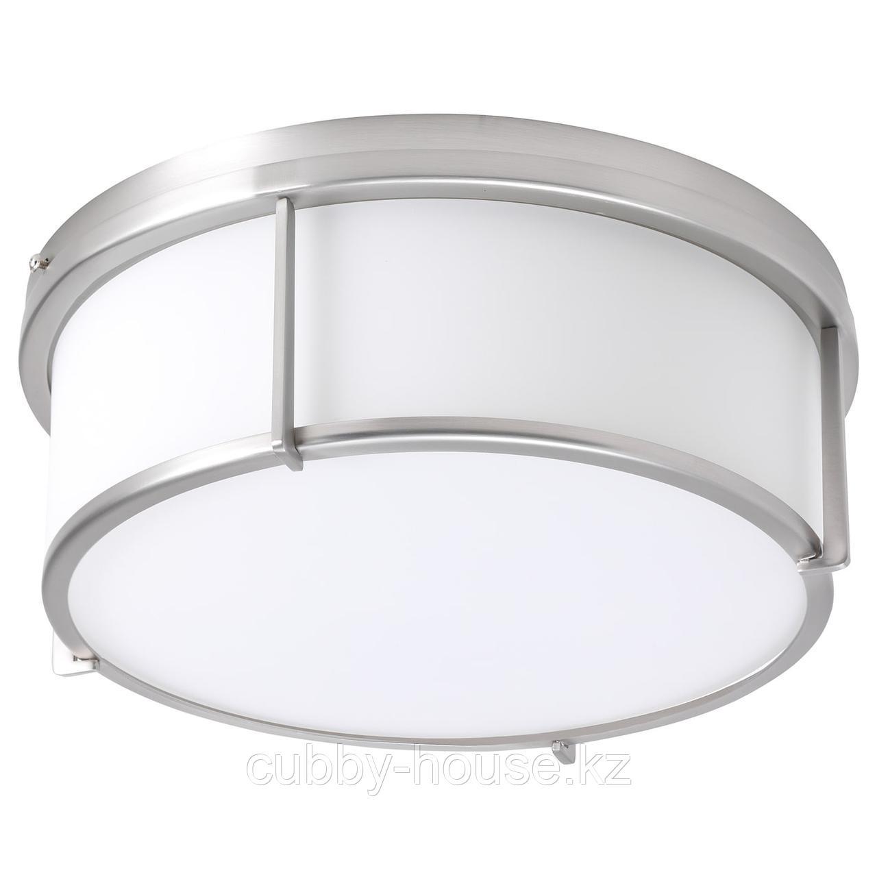 КАТТАРП Потолочный светильник, стекло никелированный
