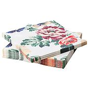 СМАКСИННЕ Салфетка бумажная, разноцветный, цветок, 33x33 см